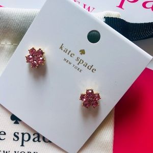 NWT KATE SPADE Light Pink/Gold Flower Studs